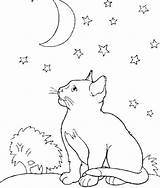Coloring Moon Cat Night Kittens Kitten Animal Sheet Colouring Middle Malvorlagen Adult Printable Adults Kevin Luxury Kidsdrawing Popular Heart sketch template