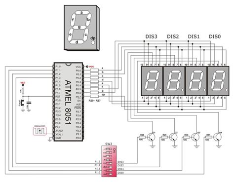 Segment Led Displays Circuit Diagram Electronic