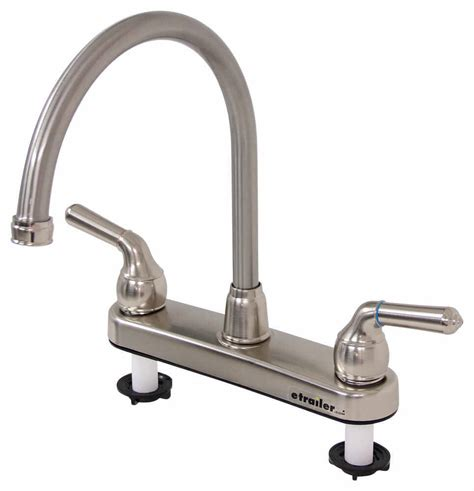 best rv kitchen faucets distribution rv kitchen faucet dual handle satin nickel finish distribution