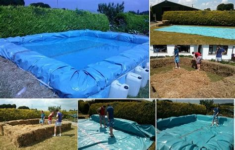 how can you build a pool to your house how to build a hay bale swimming pool
