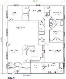 Harmonious Shop With Living Quarters Floor Plans by Floor Plans Barndominiums