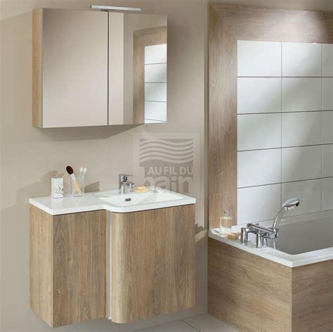 meubles de salle de bains suspendus simple vasque avec plan en beton de synthese sanijura