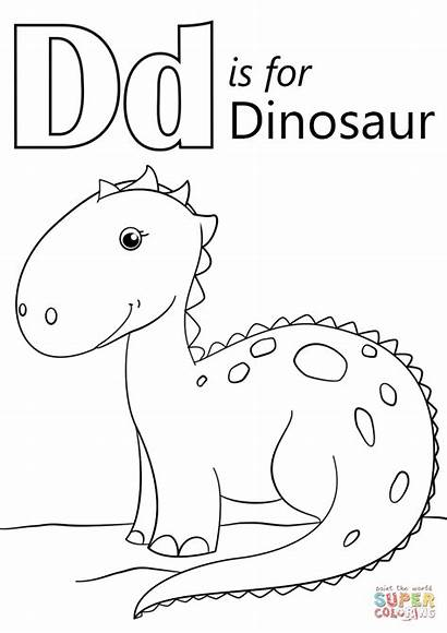 Coloring Dinosaur Letter Pages Printable Dot Crafts