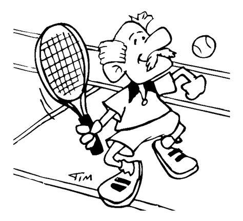 tennis kleurplaten opa tennis