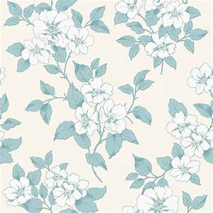Teal Wallpaper Floral