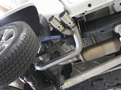 afe rebel stainless dpf   exhaust  colorado