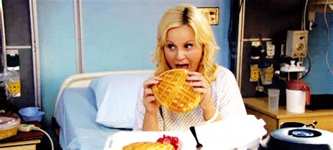 Parks And Recreation Eating Gif