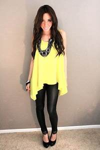 Blouse With Leather Leggings Lace Henley Blouse