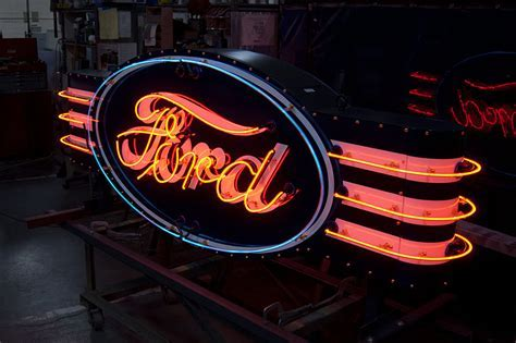 Porcelain & Neon Signs by VAULT   Custom Garage Storage