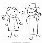 Stick Clipart Woman Farmer Figures Husband Drawing Coloring Easy Figure Wife Clip Pages Google Silhouettes Boy Clipground Farm Sketch Template sketch template