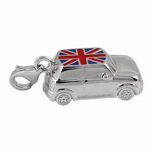 Charmes Automobile : sterling silver mini car charm with union flag enamel top ~ Gottalentnigeria.com Avis de Voitures