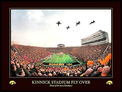 university  iowa hawkeyes kinnick stadium flyover aerial