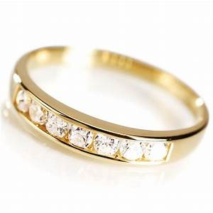 diamondaura gold vermeil classic channel set ring 14409 With stauer wedding rings