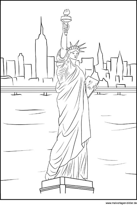 freiheitsstatue als ausmalbild  liberty und  york