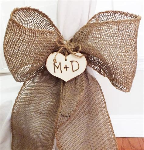 chair cover idea at reception easy diy burlap bow or