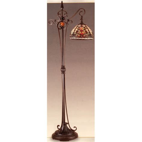 dale tiffany tf tiffany boehme antiques roadshow bridge arm floor lamp