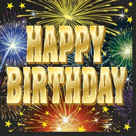 servietten happy birthday feuerwerk