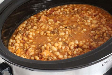 cooker baked beans slow cooked baked beans recipes dishmaps