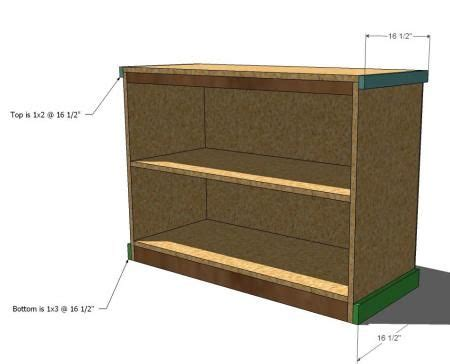 build your own office wide bookcase base diy