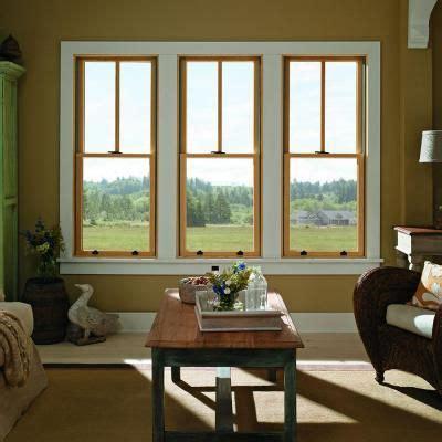 andersen       series tilt wash double hung wood window  white