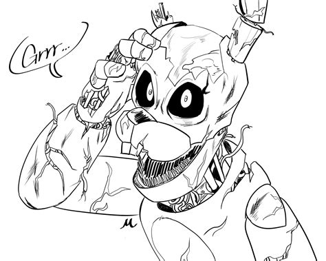 Coloring Fnaf by Fnaf Coloring Pages Withered Chica Collection Free