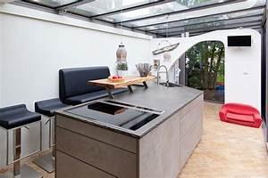 Küche In Betonoptik : leicht k che mit grauwacke arbeitsplatte und k chenfronten ~ Michelbontemps.com Haus und Dekorationen