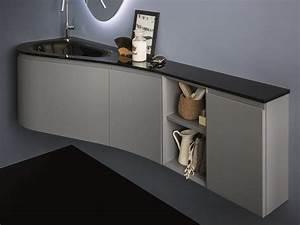 Meuble Vasque Angle : versa meuble sous vasque d 39 angle by birex design imago design ~ Teatrodelosmanantiales.com Idées de Décoration