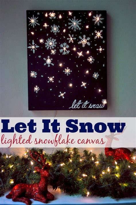 let it snow lights lights card and