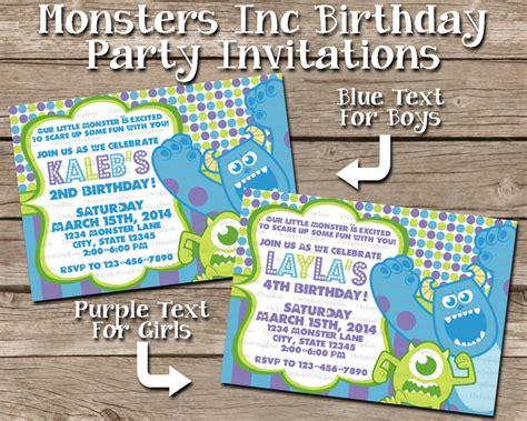 Monsters Inc Birthday Invitations Ivoiregion