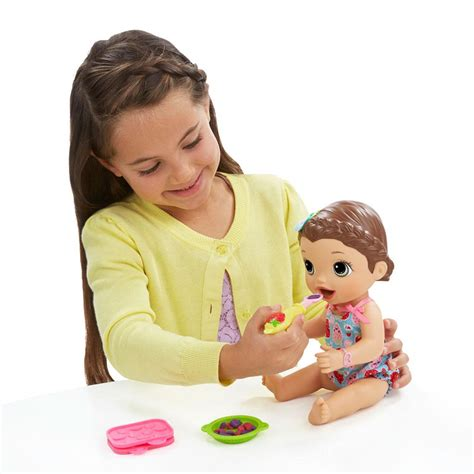 Baby Alive Super Snacks Snackin Lily Brunette Doll