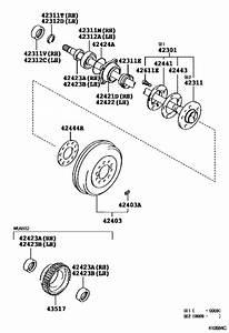 Rear Axle Shaft  U0026 Hub For 1999  4runner
