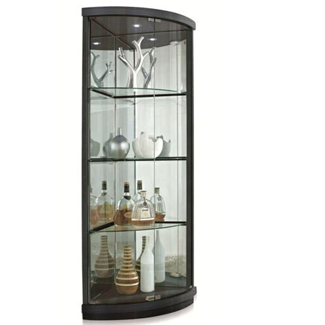 Walmart Canada Living Room Furniture by The Elegant Black Corner Curio Cabinet With Light