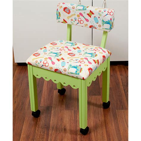 Green Sewing Chair  Arrow Sewing Cabinets