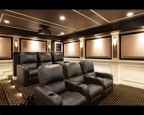 interior design home theater stupendous room with black sofa on motive carpet lighting on interesting ceiling plus