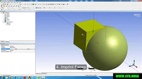 ansys design modeler basic tutorial  boolean youtube
