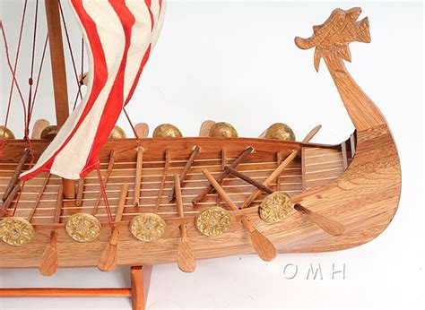 Viking Longboat Description by Drakkar Viking Longboat Ship Model 24in