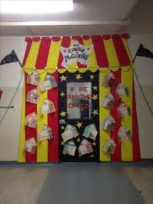 the circus mcgurkus dr seuss door decoration the students painted the circus tent and then