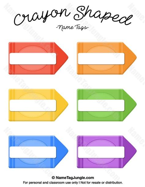 crayon labels template 268 best images about name tags at nametagjungle on names