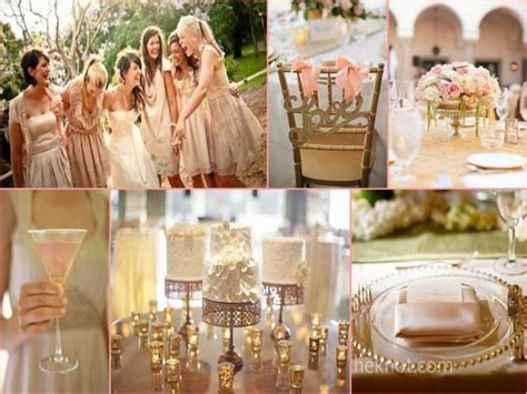 The Gallery For --> Blush And Gold Wedding Party