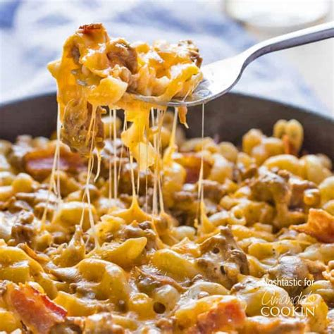 things to do with burgers for dinner bacon cheeseburger pasta one pot dinner skillet meal