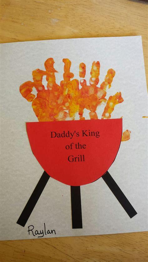 fathers day kids craft bbq handprints kids fathers day