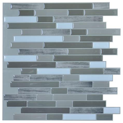 peel and stick kitchen tile art3d peel stick wall tile for backsplash 6 7390