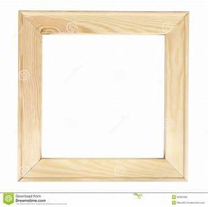 Cadre De Tableau : cadre de tableau en bois carr sur le backround blanc ~ Dode.kayakingforconservation.com Idées de Décoration