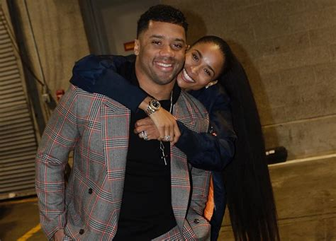 proud wife ciara focuses   man russell wilson