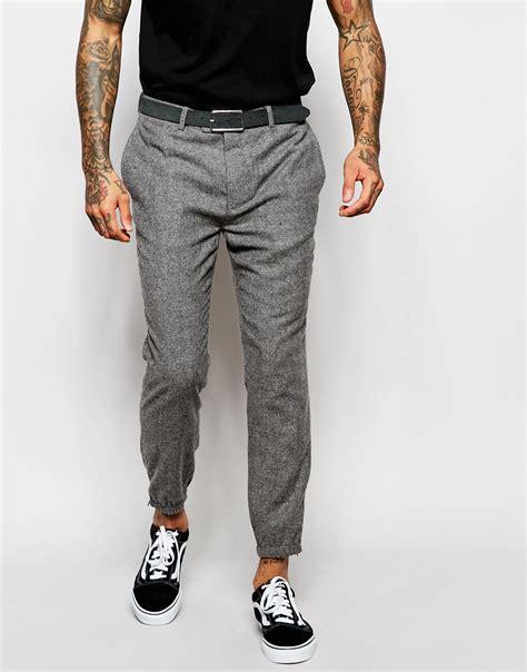 Lyst - Asos Slim Smart Joggers In Tweed in Gray for Men