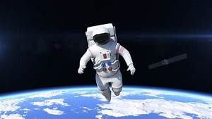 Astronaut Is Flying Over The Planet Earth. Astronaut ...