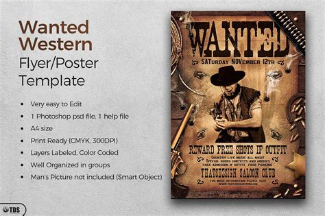printable wanted poster templates   psd designs