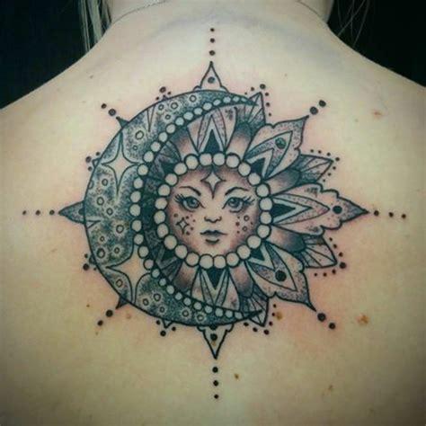 versions fantastiques du tatouage lune  soleil