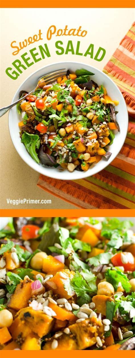 Sweet Potato Green Salad  Makes A Delicious Vegan And