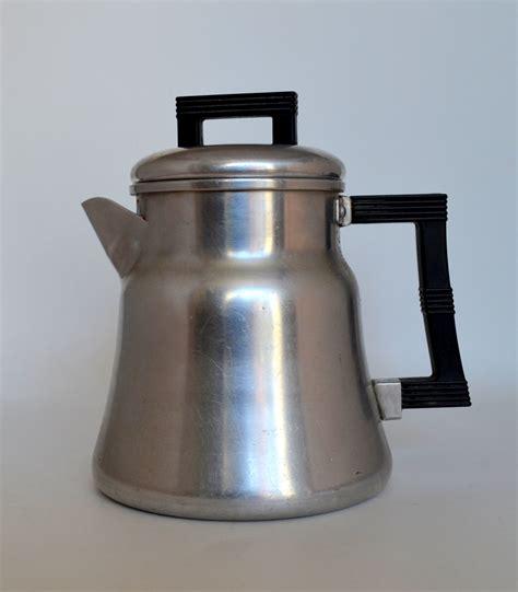 vintage wear coffee pot aluminum stove top percolator